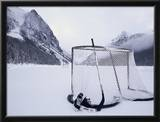 Ice Skating Equipment, Lake Louise, Alberta Framed Photographic Print