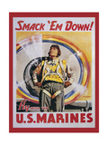 Mural Smackdown Marines Giclee Print