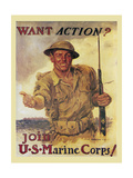 Mural Action Marines Giclee Print