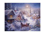 In a One Horse Open Sleigh Giclee Print by Nicky Boehme