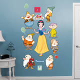 Snow White and 7 Dwarfs - Classic Tales Collection Wall Decal