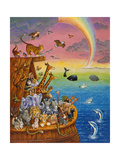 Noah and the Rainbow Giclee Print by Bill Bell