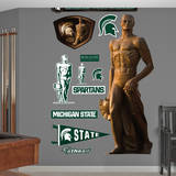 Michigan State Spartan Statue Wall Decal