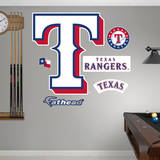 Texas Rangers Alternate Logo Wall Decal