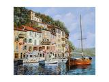 La Barca Rossa Alla Calata Giclee Print by Guido Borelli