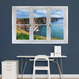 Irish Cilffs: Instant Window Vinilo decorativo