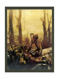 Mural Forest Marines Giclee Print