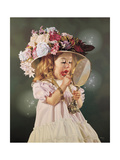 Jessicas Bonnet Giclee Print by Bob Byerley