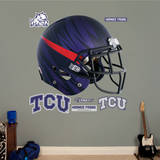 TCU Horned Frogs Bleeding Eyes Helmet Wall Decal