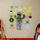 Oscar the Grouch RB Wall Decal