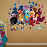 Sesame Street Group Wall Decal