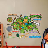 Classic Teenage Mutant Ninja Turtles Wall Decal