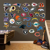 NFL Logo Collection Wall Decal