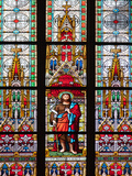 Prague, St. Vitus Cathedral, Stained Glass Window, St. John the Baptist Photographic Print by Samuel Magal