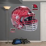 Miami Redhawks Chrome Helmet Wall Decal