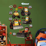 Planes Fire and Rescue Work Vehicles Collection Wall Decal