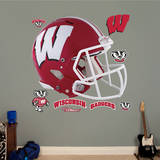 Wisconsin Badgers Red Helmet Wall Decal