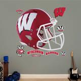 Wisconsin Badgers Red Helmet Wall Decal