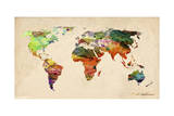 Map Giclee Print by Mark Ashkenazi