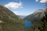 Europe, Spain, Pyrenees Mountains and Lake Photographic Print by Samuel Magal