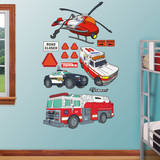 Tonka Illustrated Rescue Vehicles Collection Wall Decal