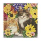 Kitties and Flowers Giclee Print by William Vanderdasson