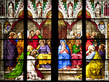 Germany, Cologne, Cologne Cathedral, South Aisle, Stained Glass Window, The Pentecost Window Photographic Print by Samuel Magal