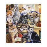 Kitty Bakery Giclee Print by Jenny Newland