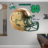 Notre Dame Gold Shamrock Helmet Wall Decal