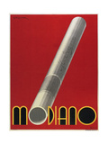 Modiano Cigs Red Italian Giclee Print