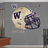 Washington Huskies Gold Chrome Helmet Wall Decal