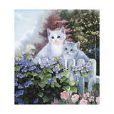 Kittens in the Master's Garden Giclee Print by Jenny Newland