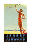 Jersey Airways Great Britain Giclee Print
