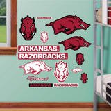 Arkansas Razorbacks Logo Assortment - Fathead Jr. Wall Decal