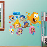 Bubble Guppies Collection Wall Decal