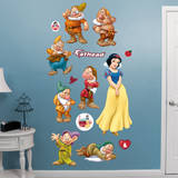 Snow White and 7 Dwarfs Collection Wall Decal
