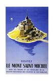 Mont Saint Michel Giclée-tryk