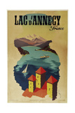 Lac Annecy of France Giclee Print
