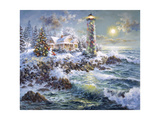 Lighthouse Merriment Impression giclée par Nicky Boehme