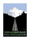 Mont Blanc Swiss Alps Giclée-Druck