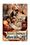 Mucha Biscuits Champagne Lefevre-Utile Giclee Print