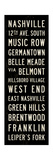 Nashville Transit Sign Giclee Print by Michael Jon Watt