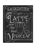 Laughter and Latte Giclee Print by Fiona Stokes-Gilbert