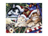 Meowy Christmas 2 Giclee Print by Jenny Newland
