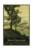 New England NY Central Lines Giclee Print