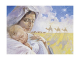 Mary with Baby Jesus Giclee Print by Hal Frenck