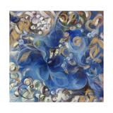 Iris Swirl Giclee Print by li bo