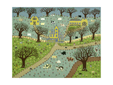 New England Farm Giclee Print by David Sheskin