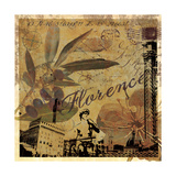 Latitude and Longitude Travel to Florence Giclee Print