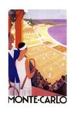 Monte Carlo Tennis Wydruk giclee